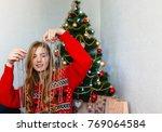 portrait of a girl. girl... | Shutterstock . vector #769064584