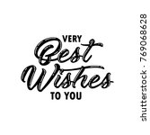 very best wishes to you... | Shutterstock .eps vector #769068628