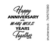 happy anniversary and more... | Shutterstock .eps vector #769070380