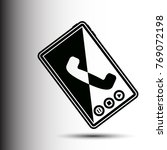 phone icon vector flat sign app ...