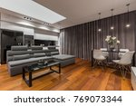 multifunctional home interior... | Shutterstock . vector #769073344