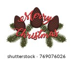 merry christmas written over... | Shutterstock .eps vector #769076026