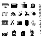 heating and cooling icons | Shutterstock .eps vector #769078783