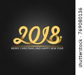happy new year and merry... | Shutterstock .eps vector #769080136