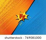 comics fight background. versus ... | Shutterstock .eps vector #769081000