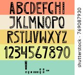 vector english latin alphabet.... | Shutterstock .eps vector #769087930