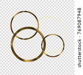 gold circles of different... | Shutterstock .eps vector #769087948