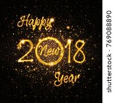 sparks shapes 2018 new year.... | Shutterstock . vector #769088890