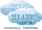 sex addict word cloud on a... | Shutterstock .eps vector #769090366