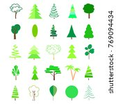 happy new year. green trees and ... | Shutterstock .eps vector #769094434
