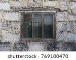 Old Glass Window Between...