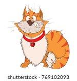 illustration of a cute cat.... | Shutterstock . vector #769102093