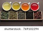 black tea  green tea  fruit tea ... | Shutterstock . vector #769102294