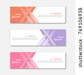 set of abstract design banner... | Shutterstock .eps vector #769106938