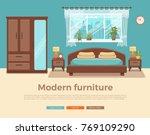 bedroom interior vector.... | Shutterstock .eps vector #769109290