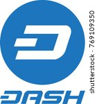 dash digital crypto currency... | Shutterstock .eps vector #769109350