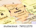 close up of the country of chad ... | Shutterstock . vector #769111570