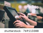 young woman hand doing process... | Shutterstock . vector #769113388