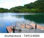 boat dock and landing across...   Shutterstock . vector #769114000