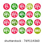 set of round discount tags 10... | Shutterstock .eps vector #769114360