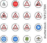 line vector icon set   disabled ... | Shutterstock .eps vector #769117504