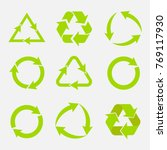 recycling symbol of... | Shutterstock .eps vector #769117930