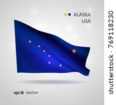 alaska state 3d style glowing... | Shutterstock .eps vector #769118230
