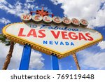 welcome to fabulous las vegas... | Shutterstock . vector #769119448