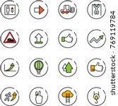line vector icon set   elevator ... | Shutterstock .eps vector #769119784