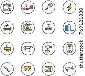line vector icon set   tv... | Shutterstock .eps vector #769121830