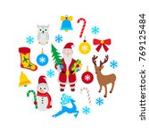 set of christmas icons.vector...   Shutterstock .eps vector #769125484