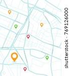 gps.navigator pin yellow color... | Shutterstock .eps vector #769126000