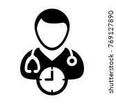 doctor appointment icon vector... | Shutterstock .eps vector #769127890