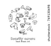 hand drawn doodle security... | Shutterstock .eps vector #769130698