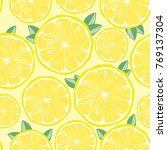 bright seamless pattern with... | Shutterstock .eps vector #769137304