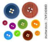 vector set of buttons of... | Shutterstock .eps vector #769140880