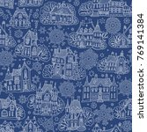 seamless pattern of fantasy...   Shutterstock .eps vector #769141384
