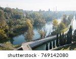 Small photo of view of Adda River from Trezzo d'Adda