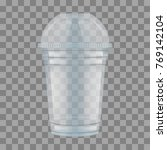 clear plastic cup with sphere... | Shutterstock .eps vector #769142104