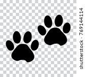 black silhouette animal paw... | Shutterstock .eps vector #769144114