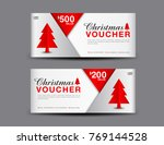 christmas voucher template... | Shutterstock .eps vector #769144528