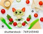 funny sandwich for kids  animal ... | Shutterstock . vector #769145440