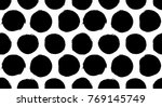 big polka dot seamless pattern. ... | Shutterstock .eps vector #769145749