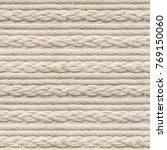 seamless beige knitwear fabric... | Shutterstock . vector #769150060