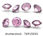 Collection Of Round Pink...
