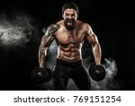 muscular young fitness sports... | Shutterstock . vector #769151254