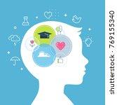 emotional intelligence  feeling ... | Shutterstock .eps vector #769155340