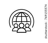 world community icon vector | Shutterstock .eps vector #769155574