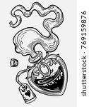 magic bottle in the shape of... | Shutterstock .eps vector #769159876