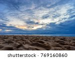 sunset on the sea with amazing... | Shutterstock . vector #769160860